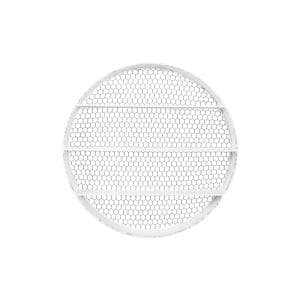 41'' in. L x 6 in. W x 41 in. H White Metal Round Decorative Wall Shelf
