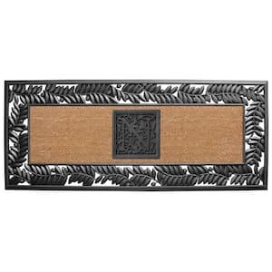 24 in. x 57 in. Sentinel Olive Rubber Coir Monogrammed N Door Mat