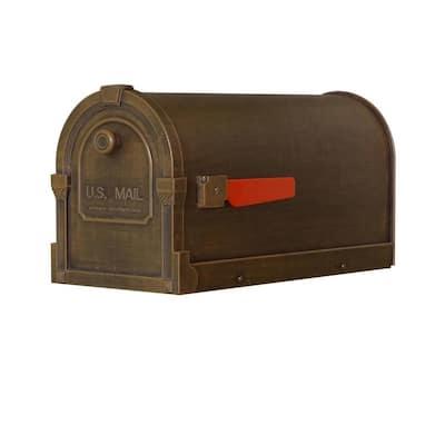 Savannah Copper Post Mount Mailbox