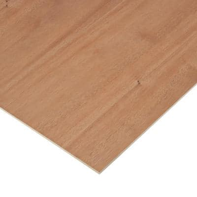 1/4 in. x 2 ft. x 4 ft. 2-Sided PureBond Mahogany Plywood Project Panel