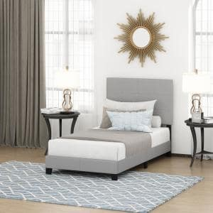 Laval Glacier Twin Button Tufted Bed Frame