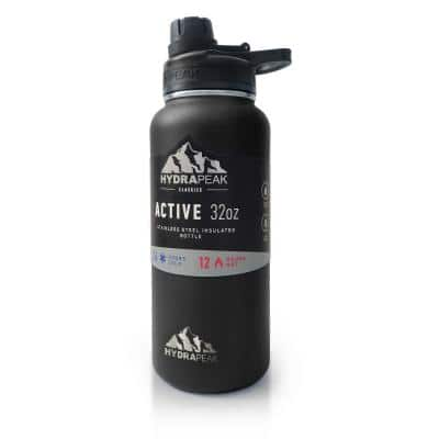 Active Chug 32 fl. oz. Black Triple Insulated Stainless Steel Water Bottle