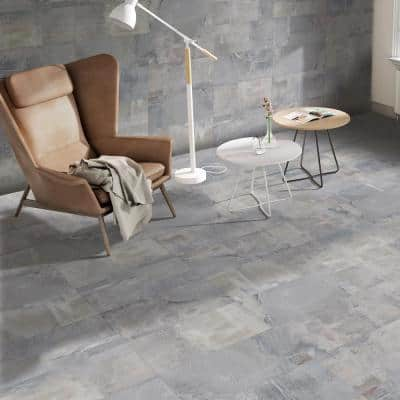 Boldstone 25 in. x 13 in. Grey Glazed Porcelain Floor and Wall Tile (10.76 sq. ft. / Case)