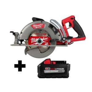 M18 FUEL 18-Volt 7-1/4 in. Lithium-Ion Cordless Rear Handle Circular Saw with Free HIGH OUTPUT 8.0 Ah Battery