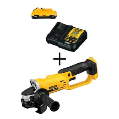 20-Volt MAX Cordless 4-1/2 in. to 5 in. Grinder, (1) 20-Volt 3.0Ah Battery & Charger
