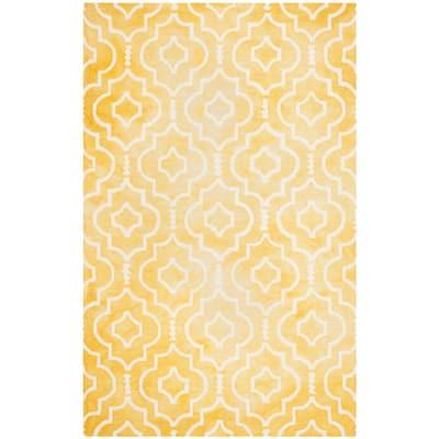 Dip Dye Gold/Ivory 6 ft. x 9 ft. Area Rug