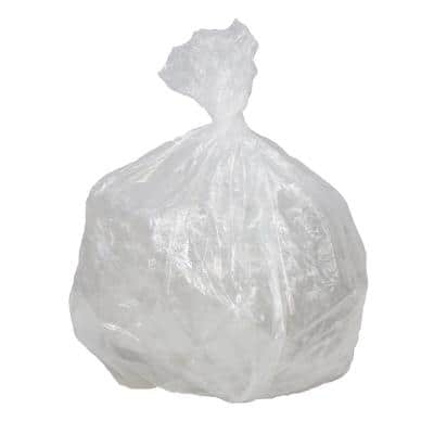 43 in. x 47 in. 56 Gal. 1.4 mil Clear Low Density Repro Trash Can Liners (25-Bags/Roll, 4-Rolls/Carton)