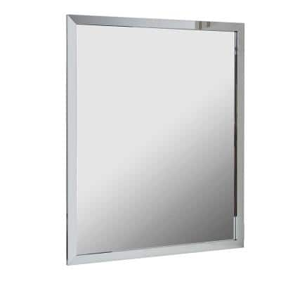 Reflections 30 in. W x 36 in. H Single Wall Framed Mirror in Chrome