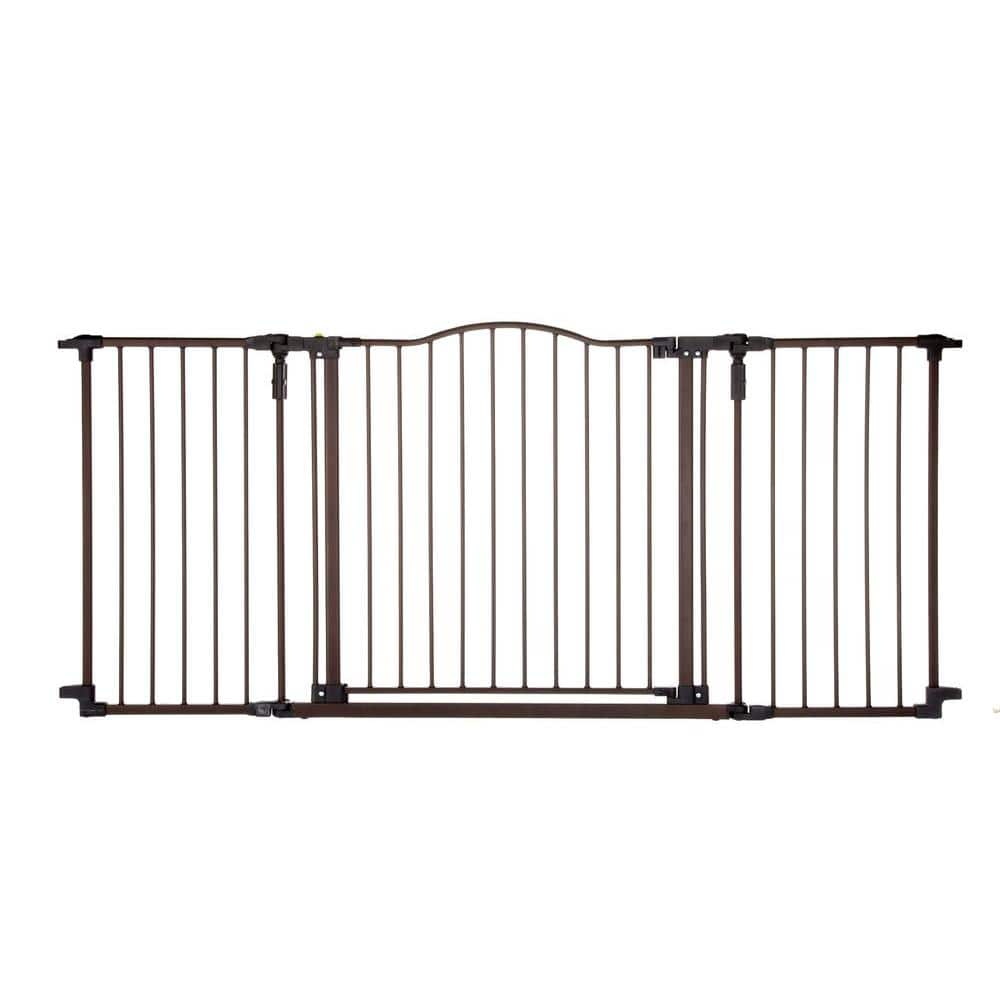 """North States 72/"""" Wide Deluxe Décor Baby Gate Provides safety in extra-wide"""