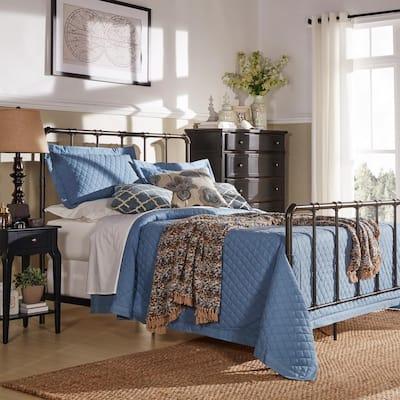 Byer Bronzed Black King Bed Frame