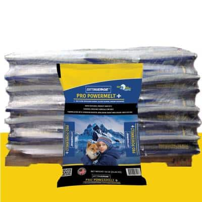 50LB Pro PowerMelt + Infused w/ Calcium and Potassium Chloride, Corrosion Inhibitor, Anti-Caking, Dye Pallet(882-Bags)