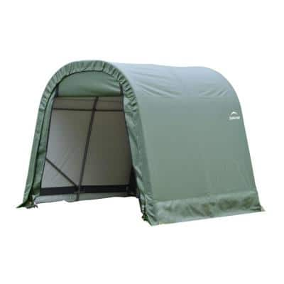 ShelterCoat 10 ft. x 12 ft. Wind and Snow Rated Garage Round Green STD