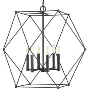 Spatial Collection 6-Light Black Pendant