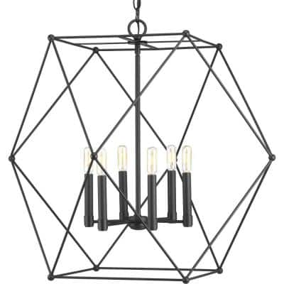 Spatial Collection 6-Light Black Pendant