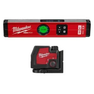 14 in. REDSTICK Digital Box Level with Green 100 ft. Cross Line and Plumb Points Laser