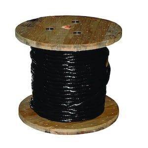500 ft. 4/0 Black Stranded AL USE-2 Cable