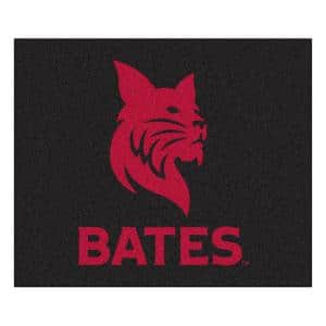 NCAA Bates College Black 5 ft. x 7 ft. Tailgater Area Rug