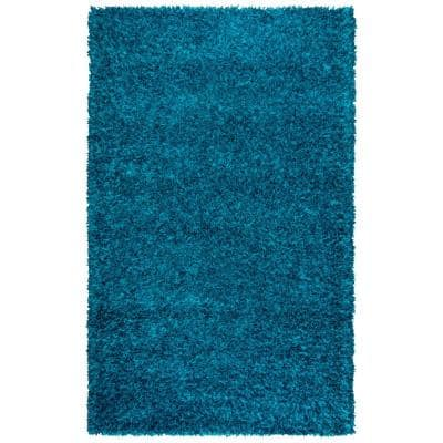 Midwood Blue 3 ft. 6 in. x 5 ft. 6 in. Shag Area Rug