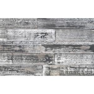 Thermo-treated 1/4 in. x 5 in. x 4 ft. White and Black Barn Wood Wall Planks (10 sq. ft. per 6-Pack)