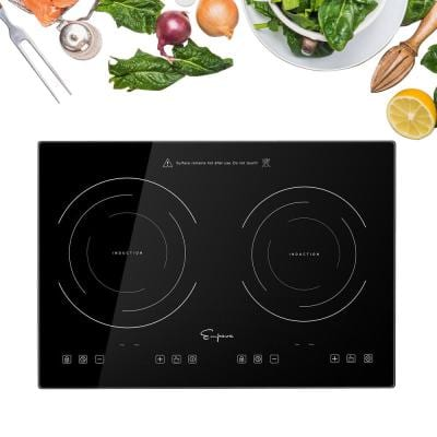 Portable 20.5 in. Induction Electric Cooktop in Black with 2 Elements