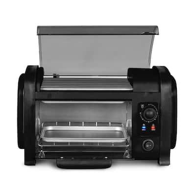 Cuisine Black Hot Dog Roller and Toaster Oven