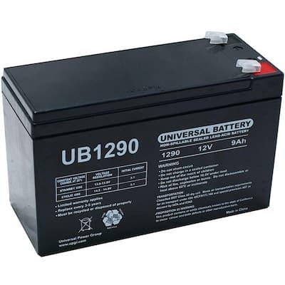 12-Volt 9 Ah F1 Terminal Sealed Lead Acid (SLA) AGM Rechargeable Battery