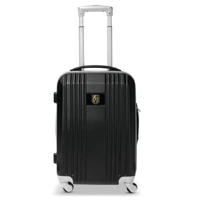 NHL Vegas Golden Knights 21 in. Black Hardcase 2-Tone Luggage Carry-On Spinner Suitcase