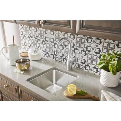 Rivana Single-Handle Pull-Down Bar Faucet in Stainless