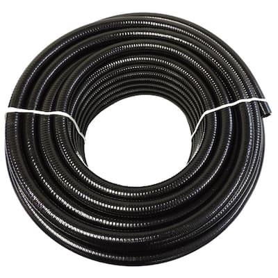 3 in. x 25 ft. Black PVC Schedule 40 Flexible Pipe