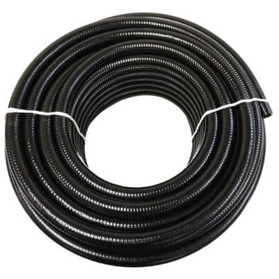 4 in. x 25 ft. Black PVC Schedule 40 Flexible Pipe