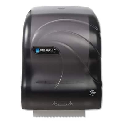 Black Simplicity Translucent Mechanical Roll Paper Towel Dispenser