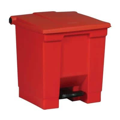 8 Gal. Red Fire-Safe Step-On Trash Can