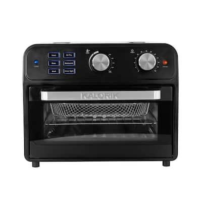 22 Qt. Black Digital Air Fryer Toaster Oven