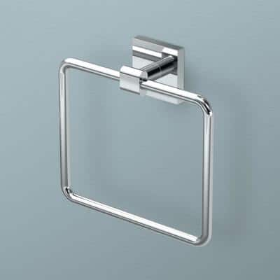 Form Towel Ring in Chrome