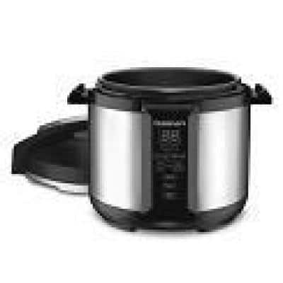 8 qt. Brushed Stainless Pressure Cooker