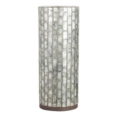 Jemma 21 in. Gray Capiz Shell Indoor Table Lamp