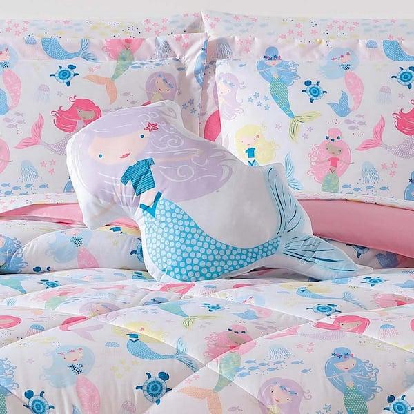 Kids Mermaids Twin Xl Comforter Set, Mermaid Bedding Twin