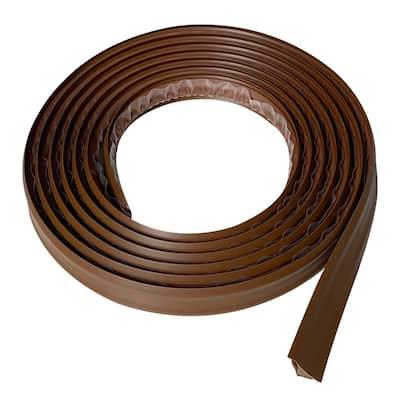 3/4 in. x 10 ft. Dark Brown PVC Inside Corner Self-adhesive Flexible Caulk and Trim Molding