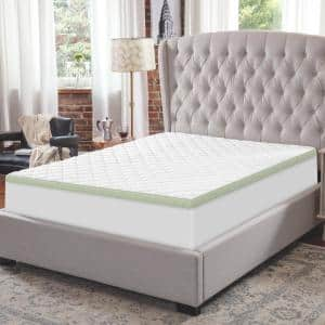 3-Inch Ultimate Cooling Luxury Quilted Memory Foam Bed Topper 3 in. Medium Deep Pocket Memory Foam King Mattress Topper