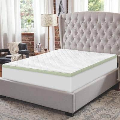 3 in. Ultimate Cooling Luxury Quilted King Memory Foam Mattress Topper