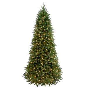 9 ft. Feel Real Jersey Frasier Fir Slim Hinged Artificial Christmas Tree with Clear Lights