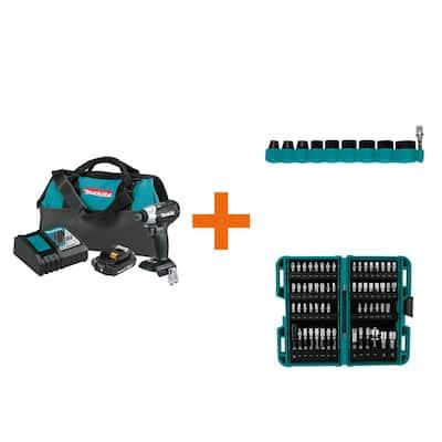 18-Volt LXT Sub-Compact Brushless Impact Driver Kit with ImpactXPS Impact Socket Set and ImpactXPS 60 Pc. Impact Bit Set