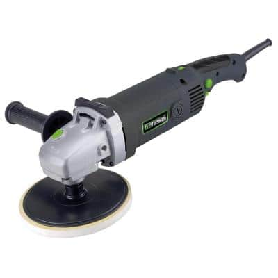 11 Amp 7 in. Variable Speed Sander/Polisher with Sanding Disc and Dual-Position Assist Handle and 3 Pads
