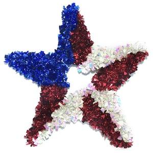 17 in. Patriotic Star Tinsel Frame