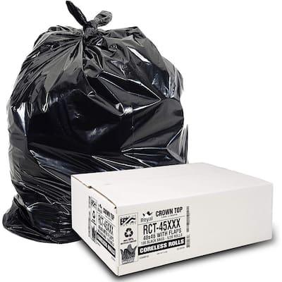 45 Gallon Black Low Density EZ Tie Closure Trash Bag (100-Count)