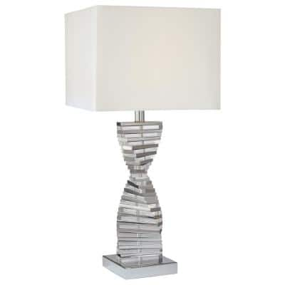 30.25 in. Chrome Table Lamp