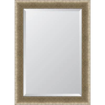 Medium Rectangle Gold Beveled Glass Contemporary Mirror (31 in. H x 43 in. W)