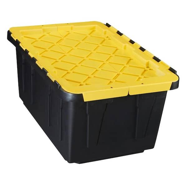 Hdx 17 Gal Flip Top Storage Bin 206151, Home Depot Storage Baskets
