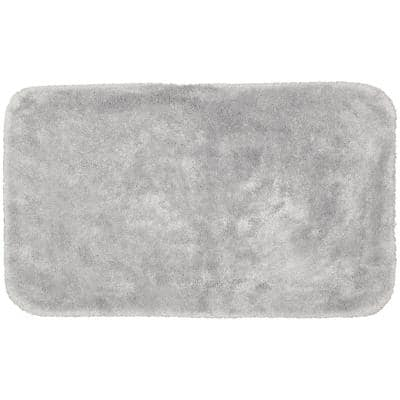 Finest Luxury Platinum Gray 30 in. x 50 in. Plush Nylon Bath Mat