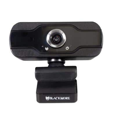 USB 1080p Webcam with Built-In Microphone in Black